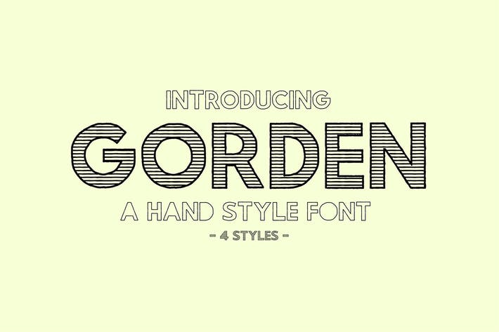 Thumbnail for Gorden | A Hand Style Font