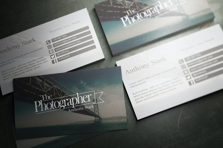 Thumbnail for Photography Business Card Design