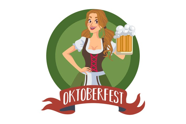 Thumbnail for Oktoberfest Girl in Badge