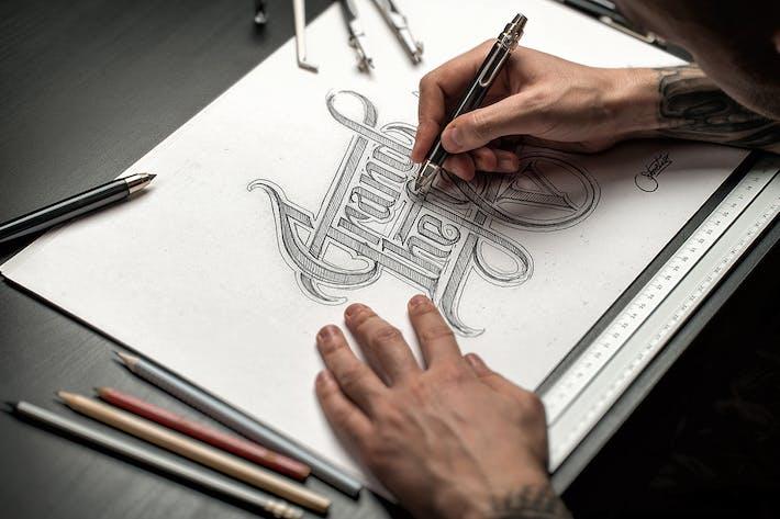 Thumbnail for Sketch / Hand Drawn Mockup Set