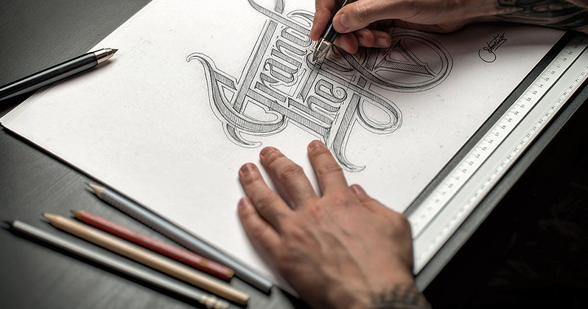 Download Sketch / Hand Drawn Mockup Set by Genetic96