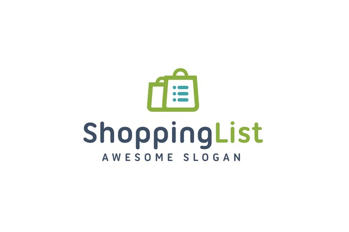 Thumbnail for Shopping List Logo Template