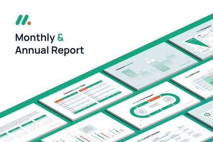Monthly and Annual Report Keynote template