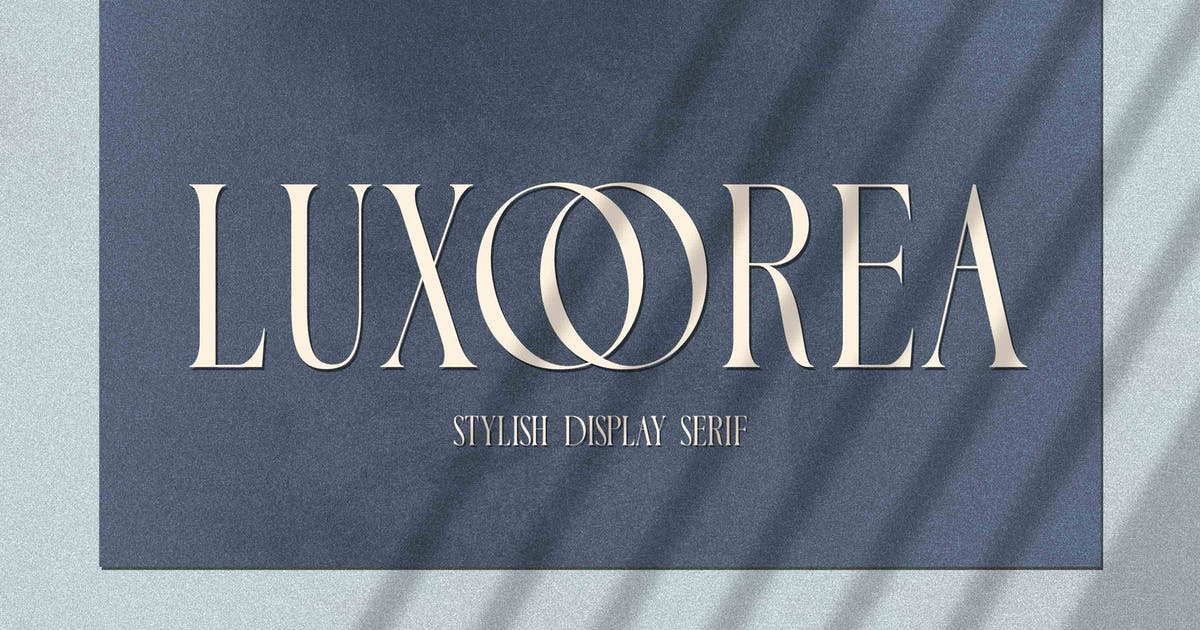 Download Luxoorea - Stylish Display Serif by Alterzone