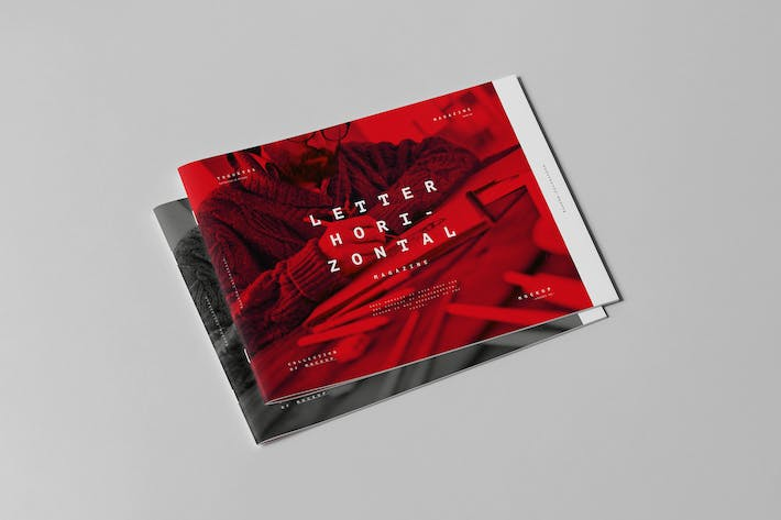 Thumbnail for US Letter Horizontal Brochure Mock-up 3