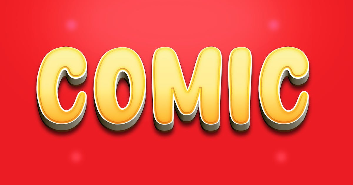 Download Comic 3D Text Effect - Cartoon Style by modaldesain