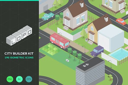 Lopo Isometric Icon Pack & City Builder