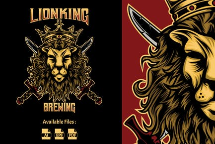 Lion King Brewing Logo Template
