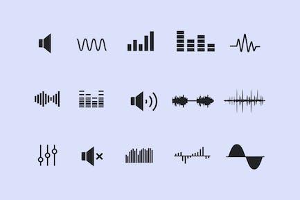 15 Soundwellen-SIcons