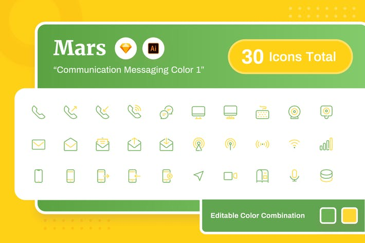 Thumbnail for Mars - Communication Messaging Color 1