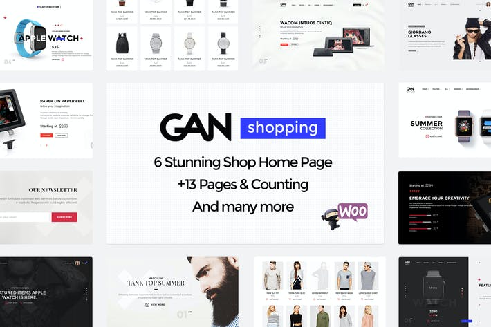 Thumbnail for GAN - Ultimate Shopping eCommerce PSD Template