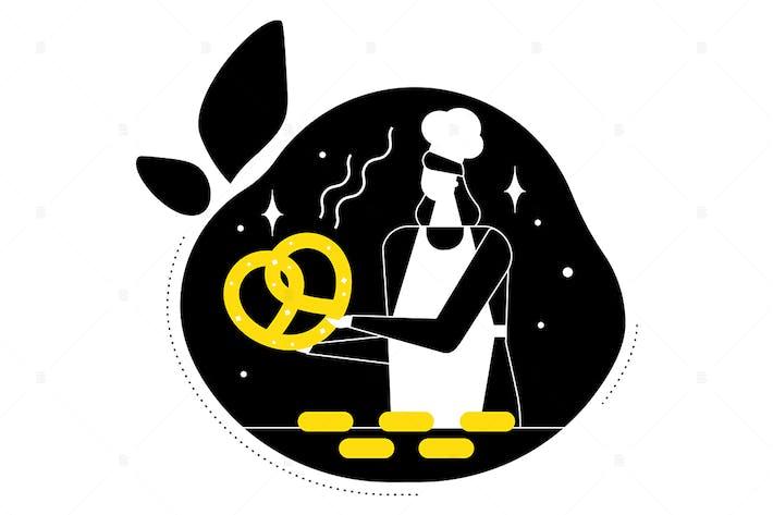 Thumbnail for Bakery - modern flat design style illustration