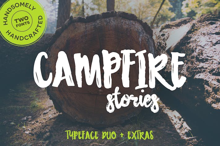 Thumbnail for Campfire Stories Font Duo