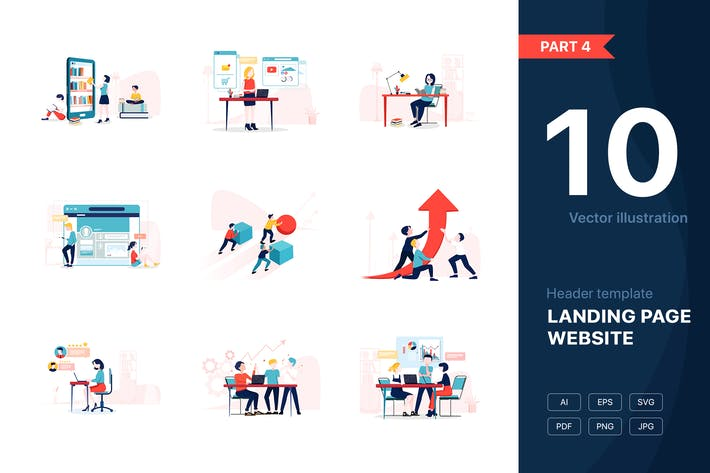 Thumbnail for [Part 4] Business Vector Illustrations Set