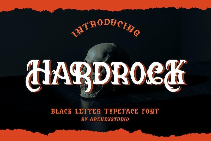 Hardrock - Black Letter Typeface