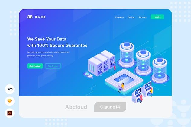 Data Saver - Website Header - Illustration