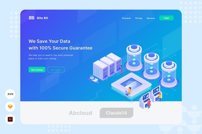 Thumbnail for Data Saver - Website Header - Illustration