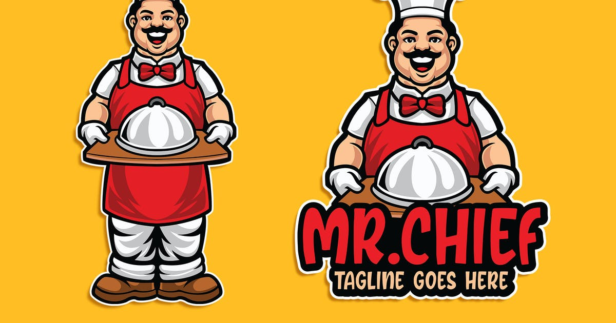 Download Mr. Chief Character Logo Template by Blankids