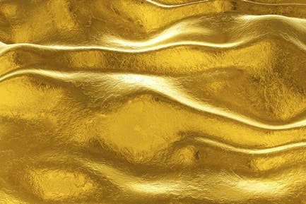 Gold Metal Wave Background