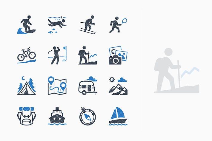 Thumbnail for Kit de Íconos turísticos y viajes 4 - Blue Series