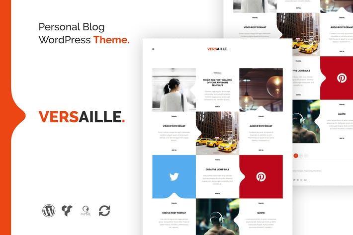 Thumbnail for Versaille - Personal Blog WordPress Theme