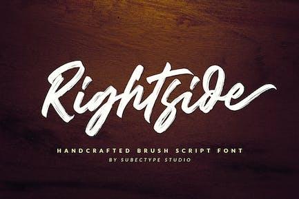Rightside - Brush Font