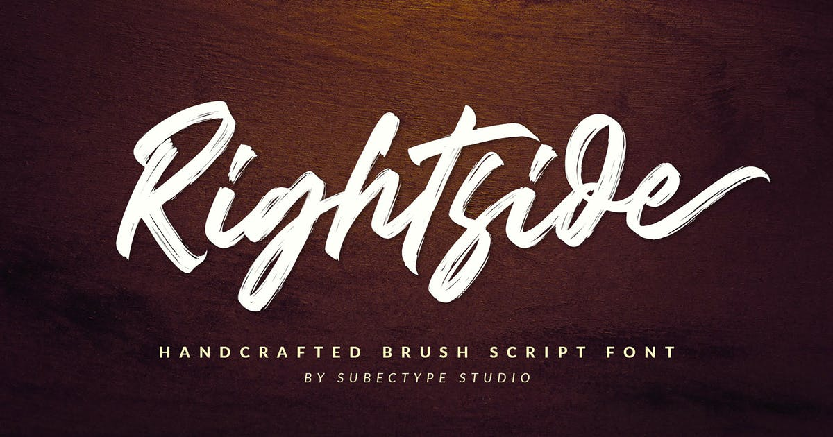 Download Rightside - Brush Font by Subectype