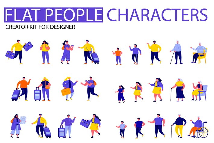 Thumbnail for Modern Flat Cartoon People Character