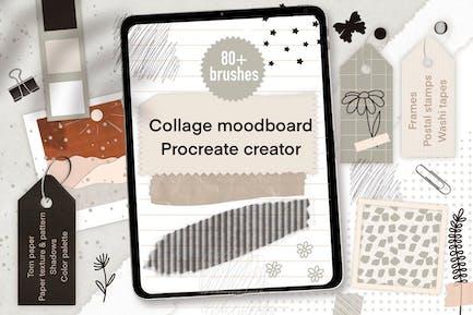 Procreate moodboard iPad collage