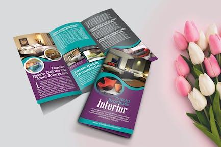 Trifold Interior Brochure Template Vol2.