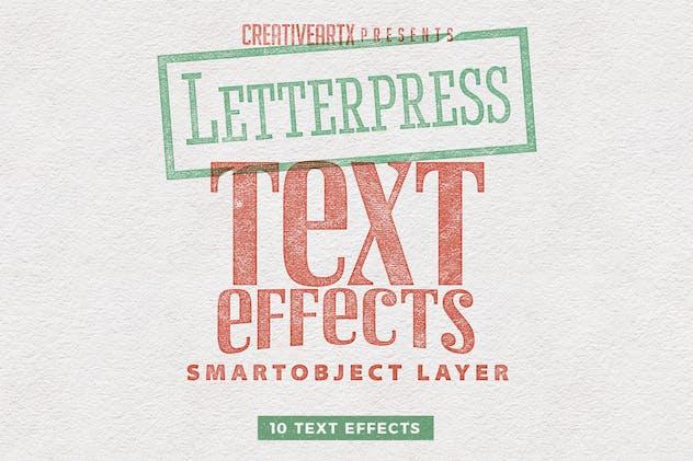 Letterpress Vintage Text Effects