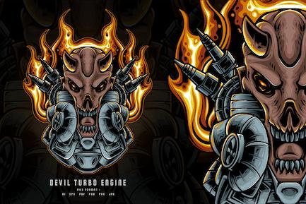 Devil Turbo Engine Illustration
