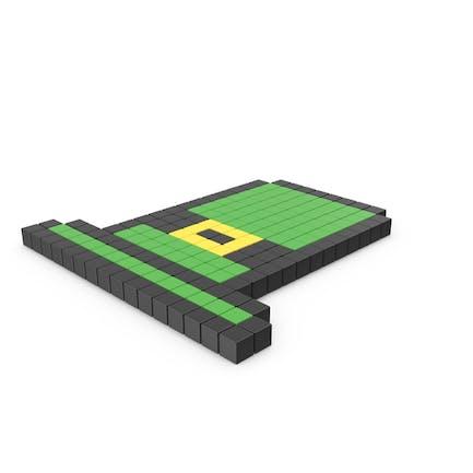 Icono de sombrero verde pixelado