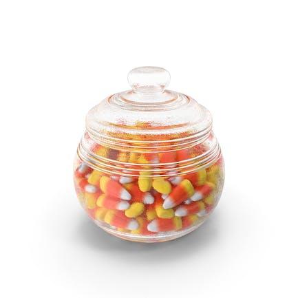 Candy Corn in Jar