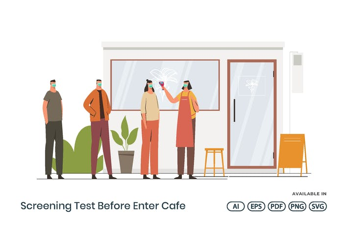 Thumbnail for Screening Test Before Enter Cafe