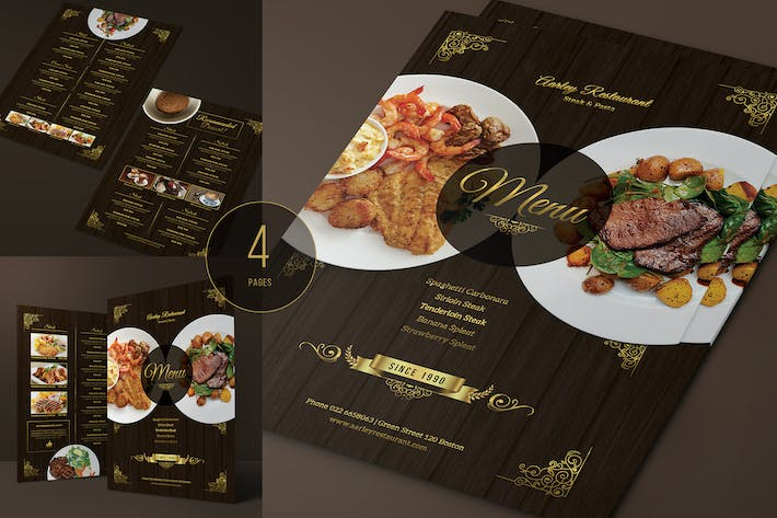 Thumbnail for Elegant Restaurant Menu