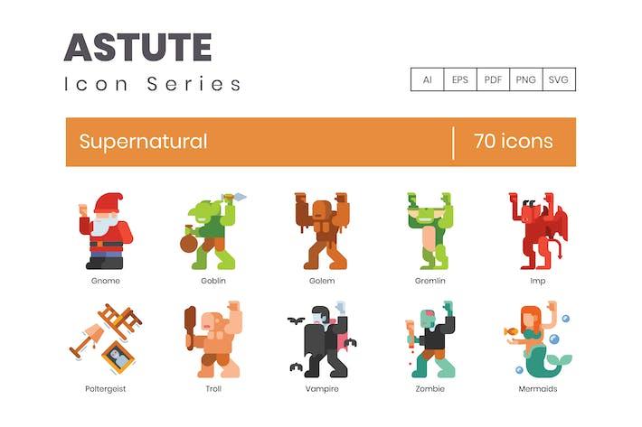 Thumbnail for 70 Supernatural Icons | Astute Series