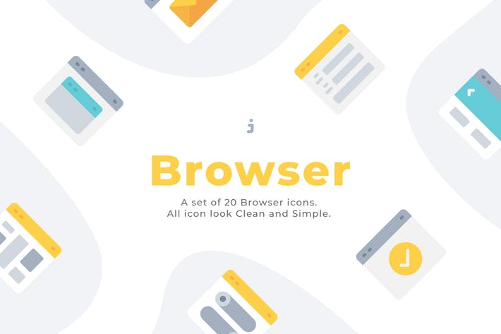 Thumbnail for 20 Browser icons - Flat