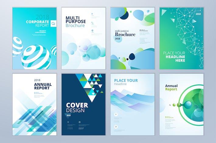 Thumbnail for Folleto, informe Anual, Plantillas de Diseño de Folleto