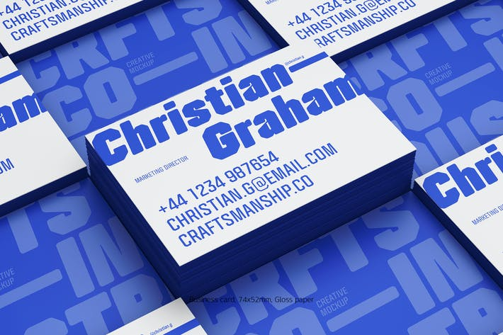 Thumbnail for Business card stack gross (74x52mm)