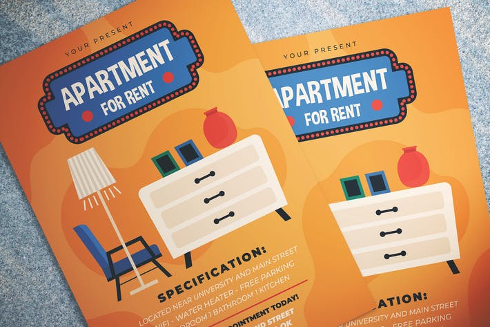 Thumbnail for Apartment For Rent Flyer