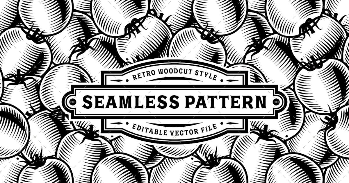Download Seamless Tomato Pattern Black And White by iatsun