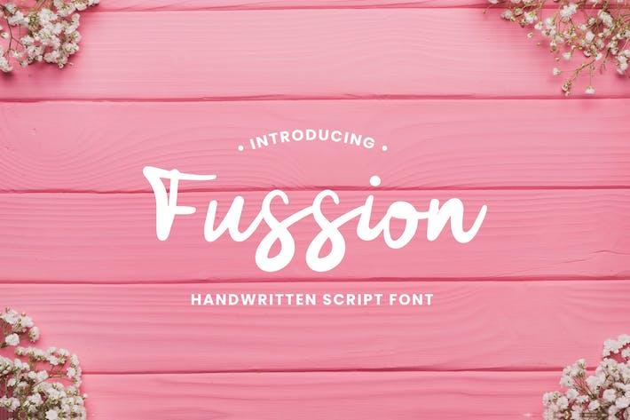 Thumbnail for Fussion Handwritten Script Font