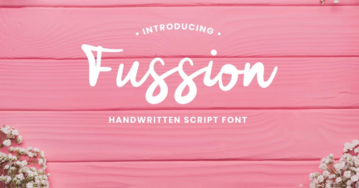 Download Fussion Handwritten Script Font by naulicrea