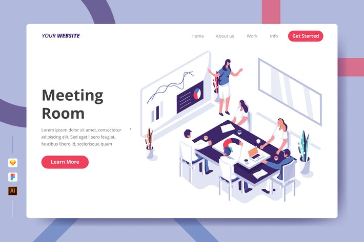 Meeting Room - Landing Page