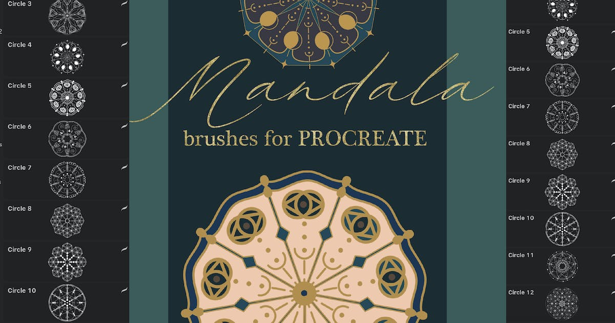 Download Mandala brushes for Procreate by a_slowik