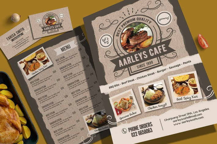 Thumbnail for Cafe Menu Flyer