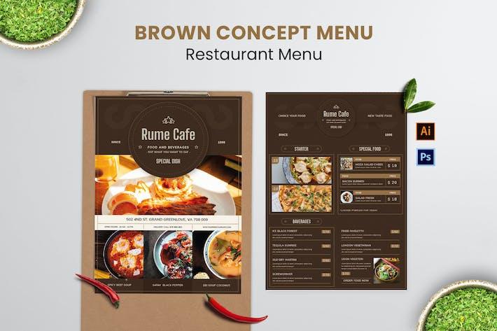 Thumbnail for Brown Concept Food Menu