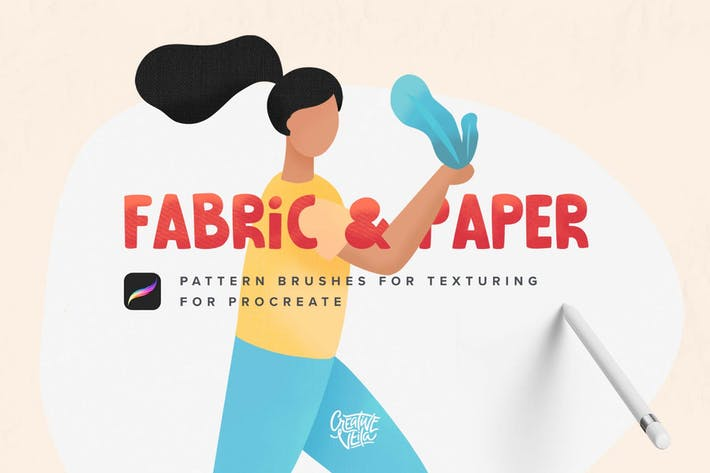 Thumbnail for Fabric & Paper Procreate Brushes