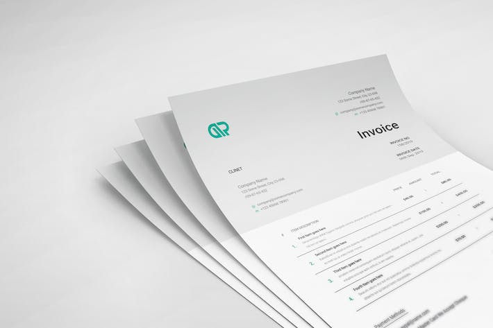 Cover Image For Minimal Invoice Template 04